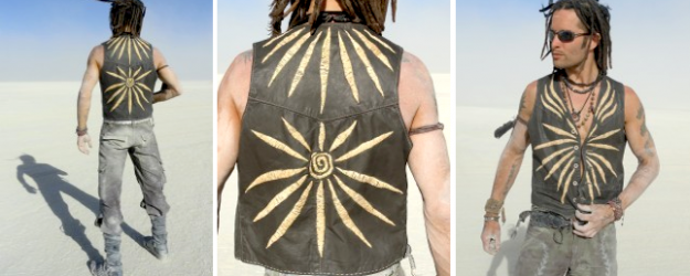 Men's Boho Chic Clothing One of a kind upcycled leather