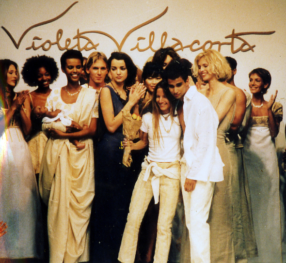 1995 NY Fashion Week Violeta Villacorta