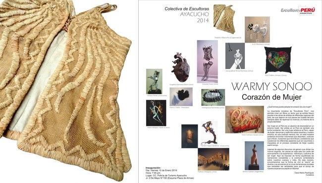 Violeta Villacorta Sun Vest at Warmy Sonqo Sculpture Exhibit Peru 2014